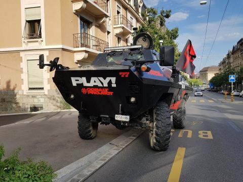La Police Municipale de Lausanne a contrôlé le Goliath