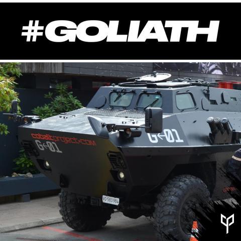 Notre tank le Goliath est de sortie!